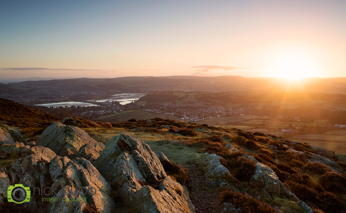 Sunrise over the Conwy Valley in North Wales